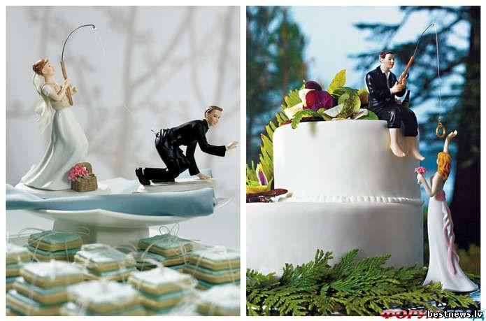 Свадебные креативные тортики фото