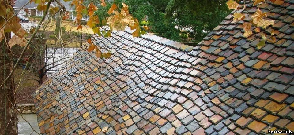 Укладка сланцевой крыши