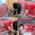 Удивительное искусство на грязной машине