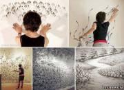Необычный стиль рисования - пальцами от художницы Джудит Браун (Judith Braun)